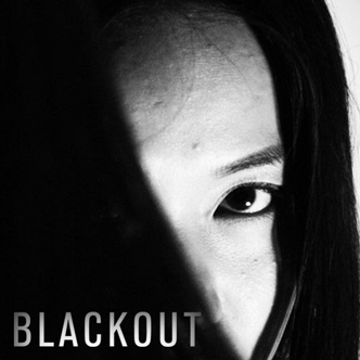 Blackout Girl with Black Hair