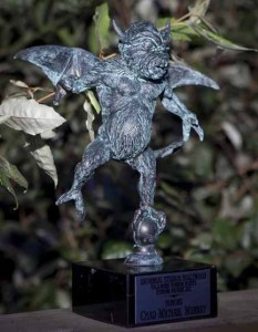 The Eyegore Awards statue