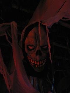 Haunting in Sylmar scary skull face