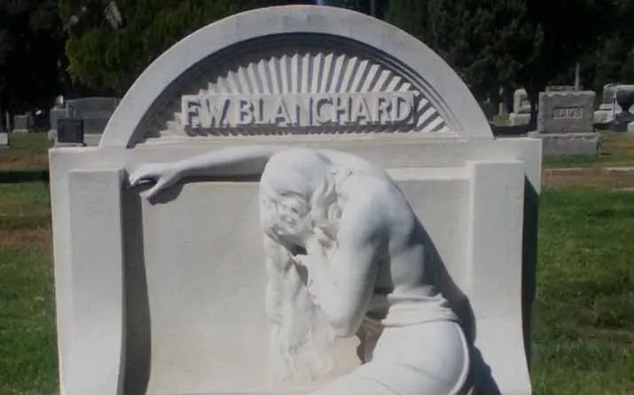 Hollywood Forever Cemetery: F. W. Blanchard gravestone. Photo copyright 2014 by Lisa Twombly