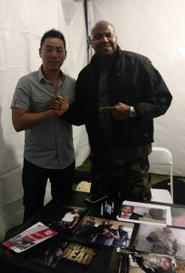 Posing with Vincent Ward of The Walking Dead