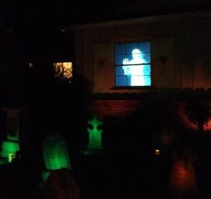 Van Oaks Cemetery Ghost Window (photo by Warren So)