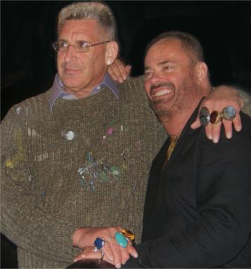 Artist Lon Michels and life partner Todd Olson