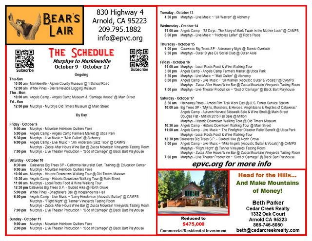 EPVC Schedule 10-9-15