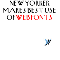 New Yorker makes best use of webfonts
