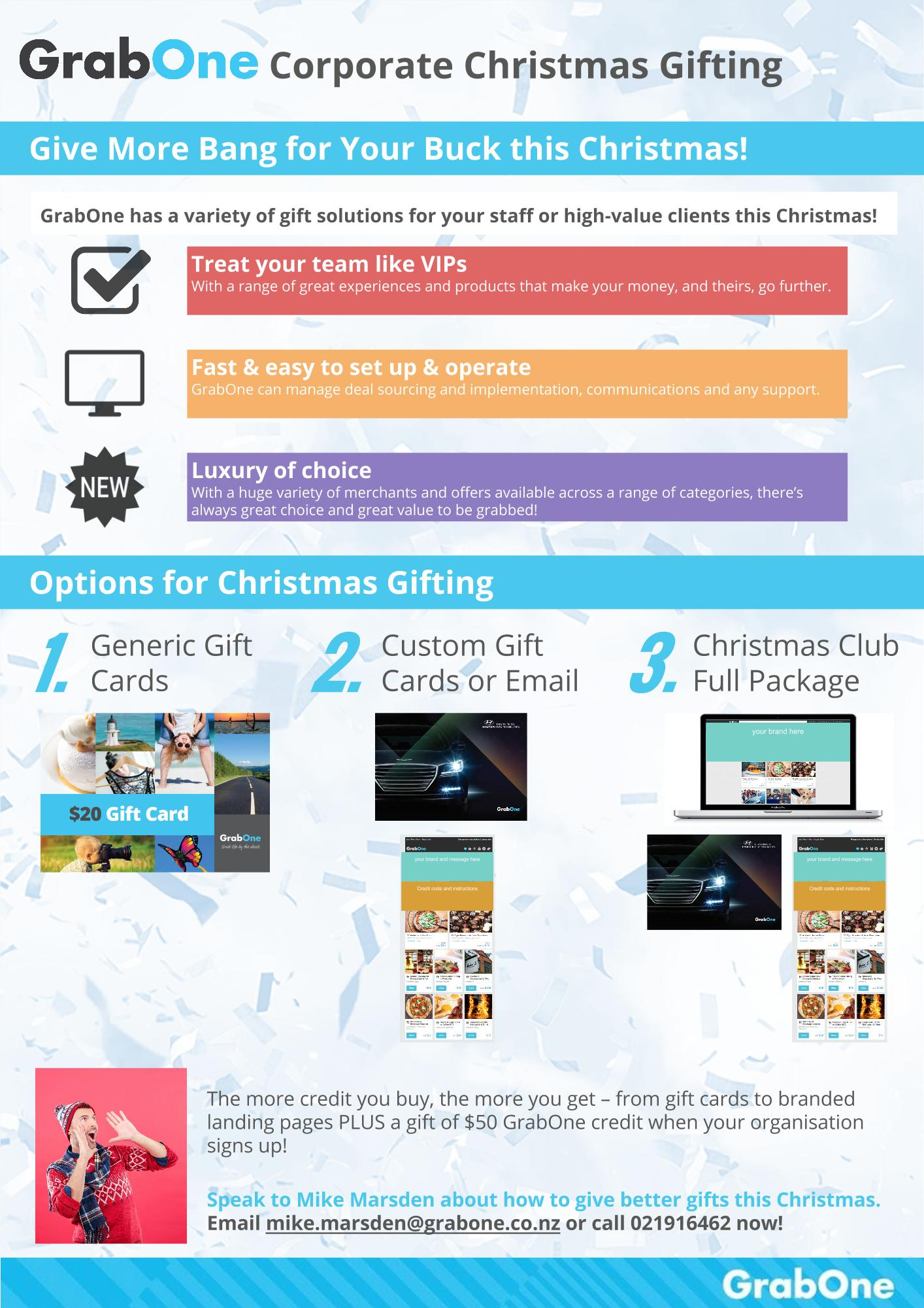 Christmas Gifting 1 Pager Collateral