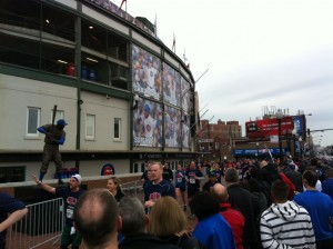 Race to Wrigley 5K finish line