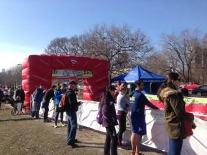 Finish line of the Chi Town Half Marathon & 10K/Photo: Zach Freeman
