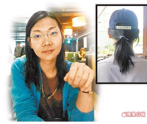 警察蓄髮被免職,也挑戰了台灣社會的不同價值觀。 圖片來源:蘋果日報
