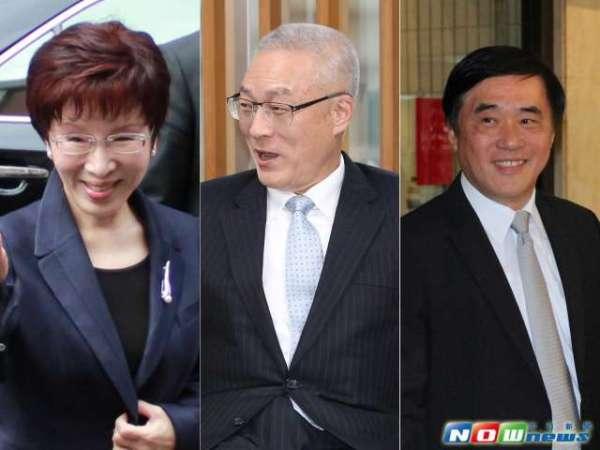 國民黨黨主席選舉三大參選人。 圖片來源:NOWNews