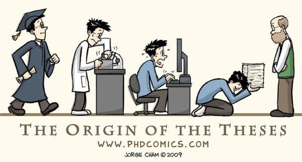念博士深具挑戰性。 圖片來源:PHDComics