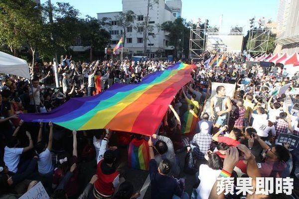 1028同志大遊行。 圖片來源:蘋果日報