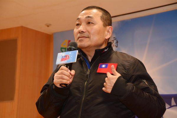 侯友宜辭官宣布參選新北市長。 圖片來源:大紀元
