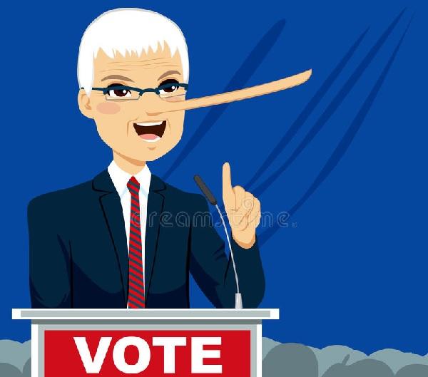 政客言行不一似乎已經成了常態。 圖片來源:Dreamstime