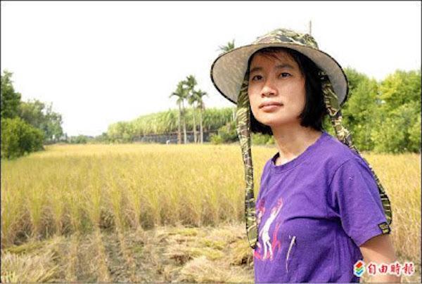 吳音寧長期參與農業事務。 圖片來源:自由時報
