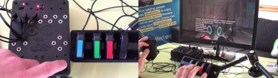 透過遊戲控制器的改良也能讓肢體障礙者享受遊戲。 圖片來源:作者提供