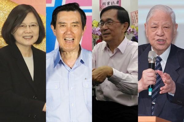 台灣民主歷程中的幾位總統。 圖片來源:新浪網