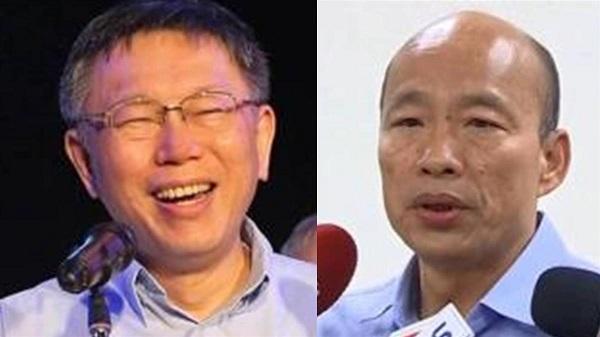 柯文哲與韓國瑜近來都有歧視性發言。 圖片來源:東森新聞