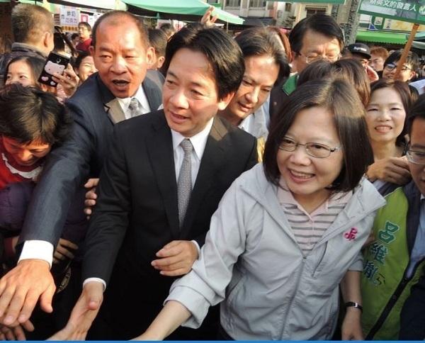 民進黨總統大選黨內初選蔡英文逆勢上升。 圖片來源:自由時報