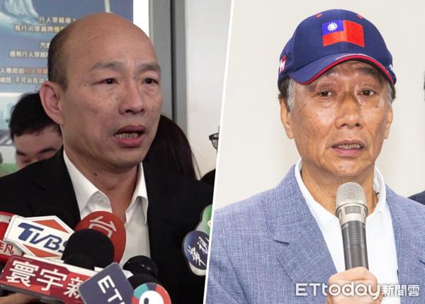 郭台銘與韓國瑜有像川普? 圖片來源:ETToday