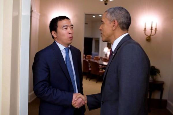 楊安澤是首位投入美國總統選戰的華裔人士。 圖片來源:自由時報