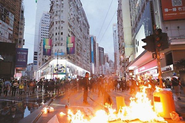 香港遊行示威已持續數個月。 圖片來源:聯合新聞網
