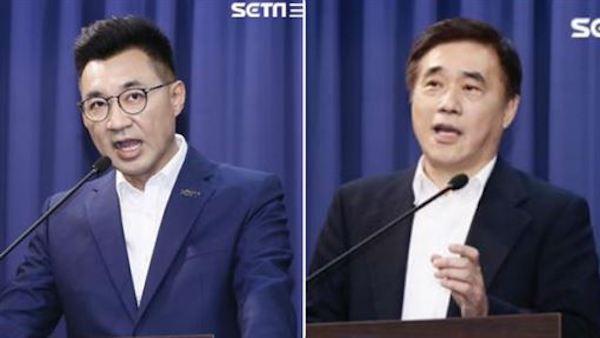 郝龍斌與江啟臣都要選國民黨黨主席。 圖片來源:三立新聞