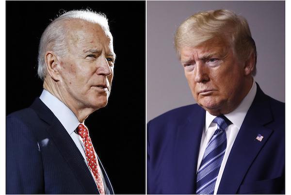 美國總統大選候選人川普與拜登皆為高齡一族。 圖片來源:青年日報