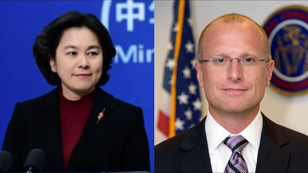 美國FCC官員卡爾連發九推槓上華春瑩。 圖片來源:東森新聞