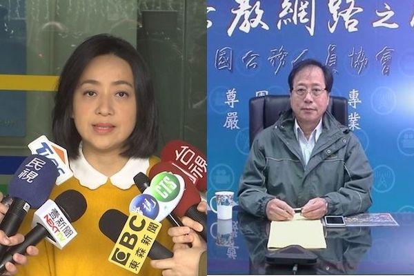 李來希嗆王婉諭「小燈泡頭顱被踢到高雄」惹眾議。 圖片來源:華視
