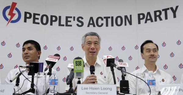 新加坡人民行動黨一黨獨大多年。 圖片來源:Online Citizen