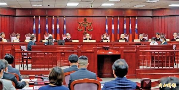 大法官就黨產條例進行釋憲,一切合憲。 圖片來源:自由時報