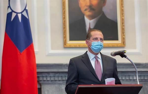 美國衛生部長訪台,是台美關係與台灣民主的新進展。 圖片來源:中天電視