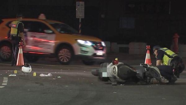 警察值勤遭無照少年撞腦死。 圖片來源:東森新聞