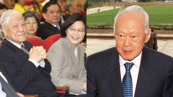 李光耀曾說「台灣人要有自己,走自己的路」。 圖片來源:太報