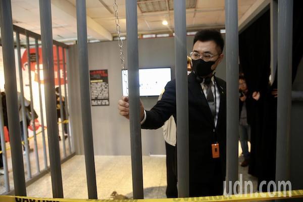 國民黨主席江啟臣參觀景美國家人權博物館。 圖片來源:聯合新聞網
