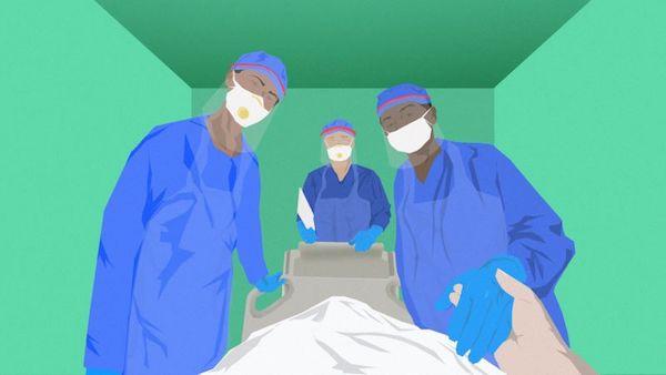新冠肺炎患者有時伴隨嚴重譫妄症狀。 圖片來源:BBC