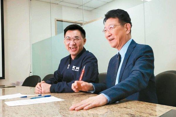 國民黨江啟臣、趙少康會合作直取大位? 圖片來源:聯合新聞網