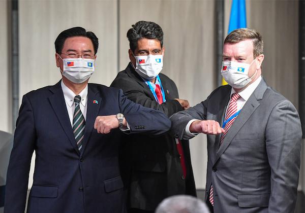 帛琉總統訪台,加深台帛互助關係。 圖片來源:外交部