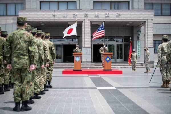 美日對台海安全進行聯合軍演。 圖片來源:自由時報