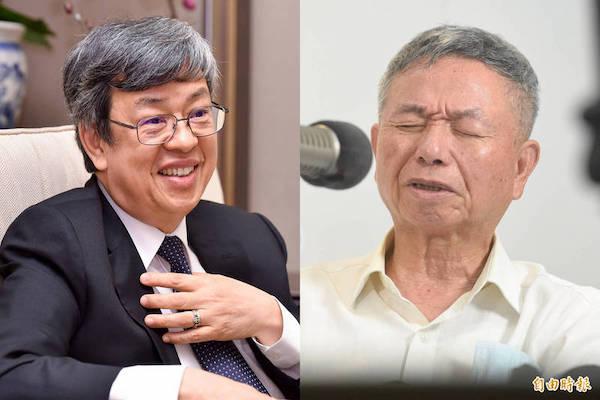 陳建仁與楊志良的人品高下立判。 圖片來源:自由時報