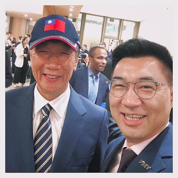 郭台銘與國民黨黨主席江啟臣。 圖片來源:江啟臣臉書