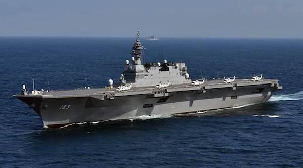 日本出雲號護衛艦具航空母艦功能。 圖片來源:中時電子報