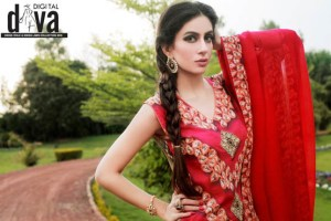 Latest Lawn Party Wear Collection Digital Diva 2013