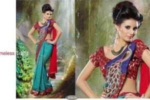 Party Wear Saree Collection Latest Fabulous 2013 For Ladies