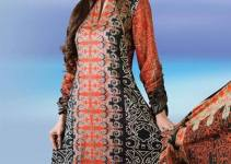 Printed Lawn Collection 2013 by Dawood Textile For Women 001
