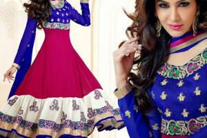 Rose Petals Indian Frocks Collection 2014 by Saheli Couture
