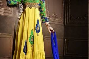 Colorful Indian Esha Deol Frock & Pajama Wear Collections 2014 for Women 2