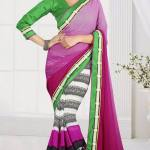 New Casual Wear Georgette Sarees Collection 2014 7
