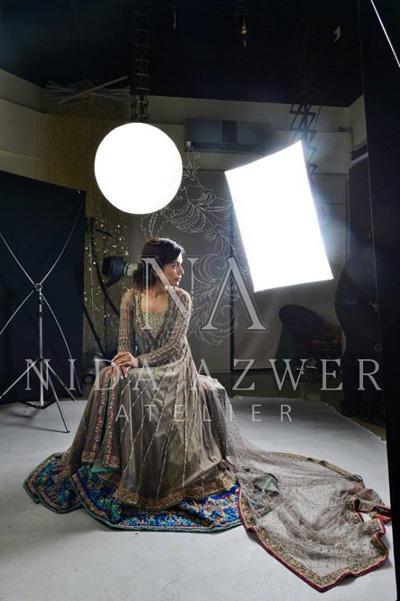 Nida Azwer  Party Wear Dresses Collection 2014 3